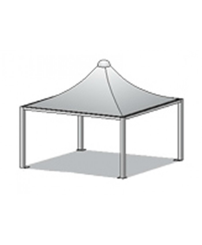 Pagoda 5 x 5m Patrat Profi Light