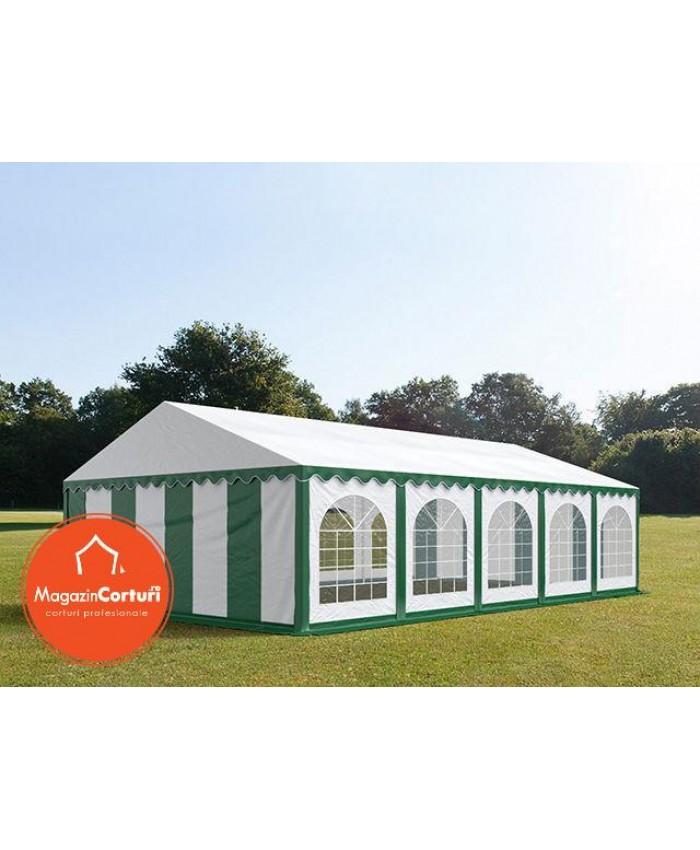 Cort Evenimente 6x10 m Premium Alb Verde